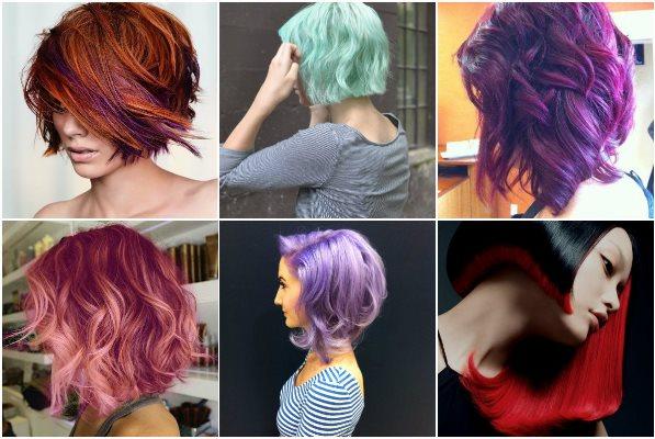 креативное колорирование волос