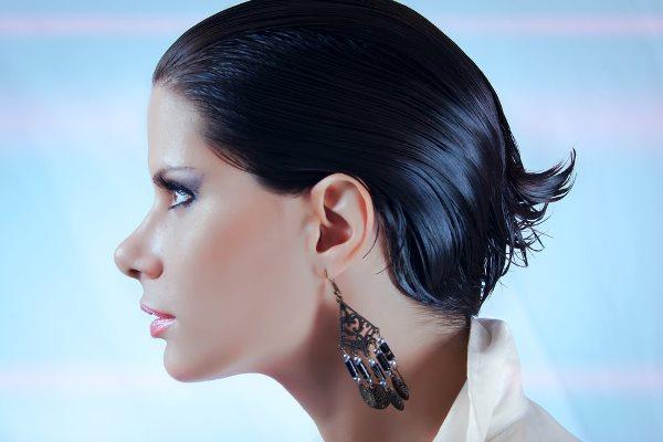 мокрый эффект на короткие волосы