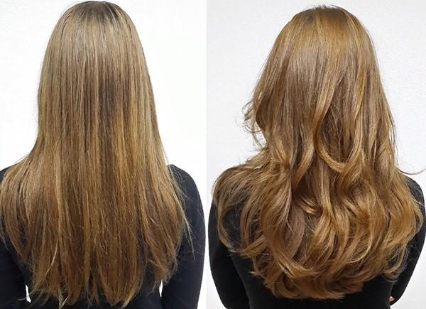 Укладка длинных волос феном