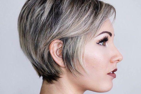 Пепельное мелирование на короткие волосы