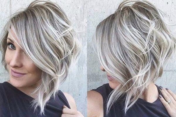 Пепельное мелирование на средние волосы