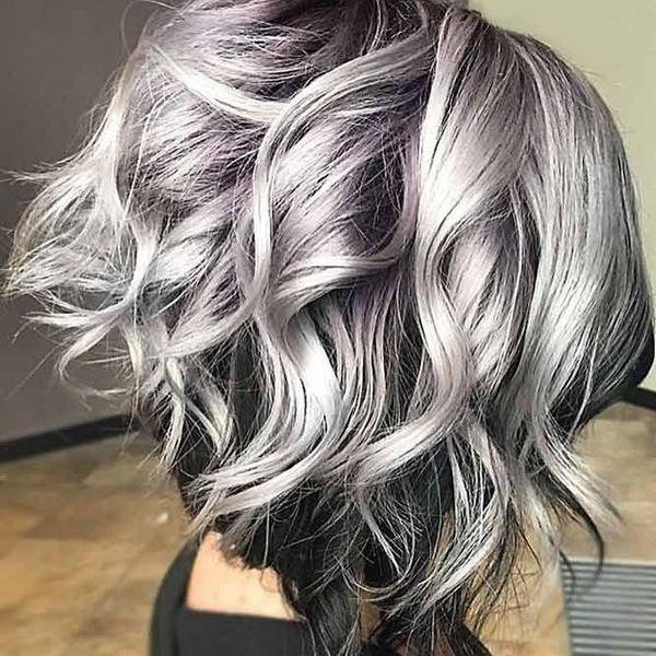 пепельно-графитовый цвет волос