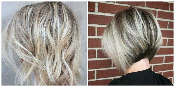 Осветление коротких волос