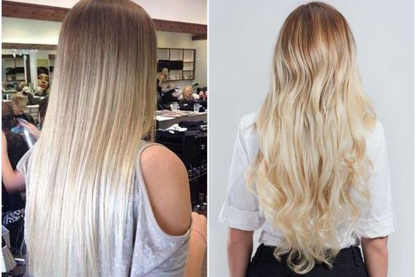 Осветление длинных волос