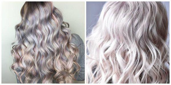 Жемчужно-перламутровое осветление волос