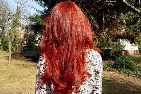 Красный оттенок от хны