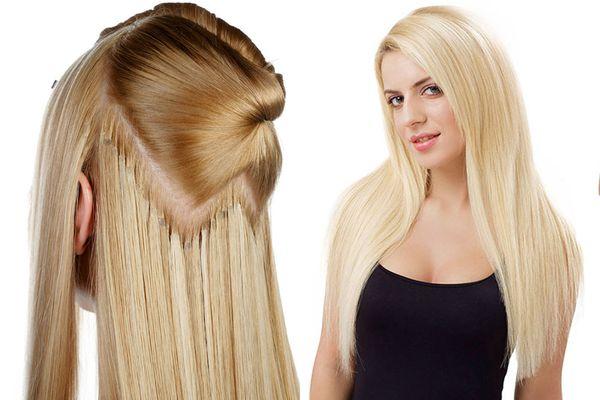 Накладные пряди в распущенных волосах
