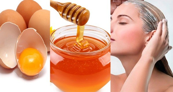 Маска для волос с медом и яйцом