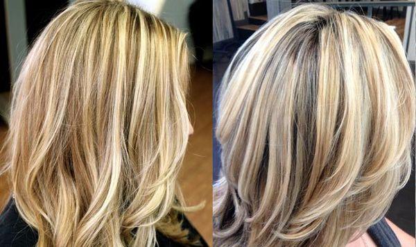 Прикорневое мелирование на русые волосы