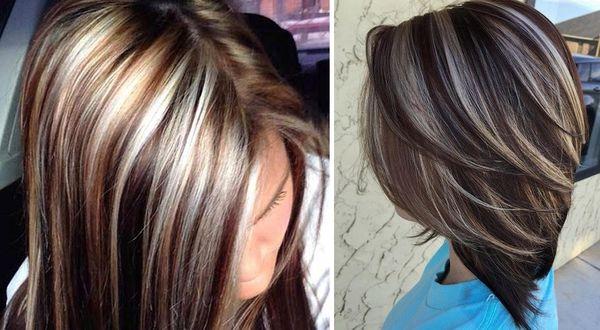 Прикорневое мелирование на тёмные волосы