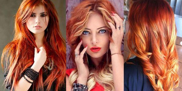 Брондирование: рыжие волосы