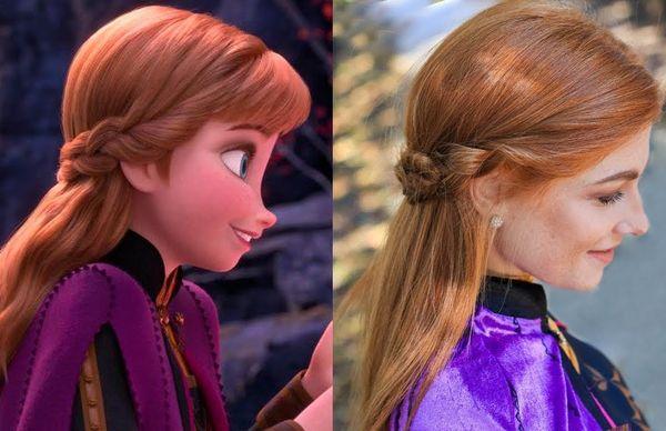 Причёска Анны и Эльзы