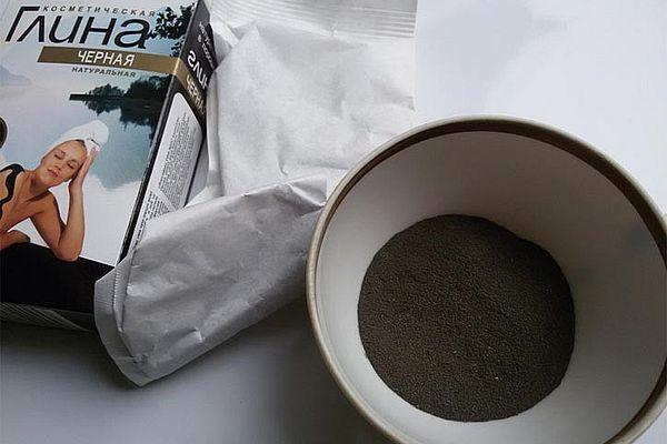 черная глина для волос