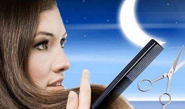 Стрижка волос на убывающую луну