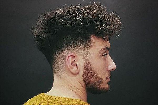 Фейд на кудрявых волосах