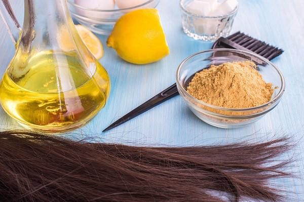 Маска для волос с желатином и травами
